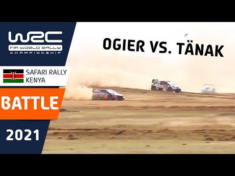 オジェ VS タナック WRC 2021 WRC第6戦ラリー・ケニアの中で起きたバトルのハイライト動画