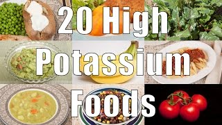 20 High Potassium Foods (700 Calorie Meals) DiTuro Productions