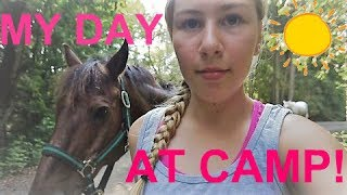 A DAY IN THE LIFE AT HORSE CAMP Gabby CAM! Camp