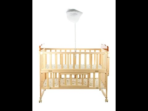 Mee Mee Baby Wooden Cot with Mosquito Net and Rocking Function