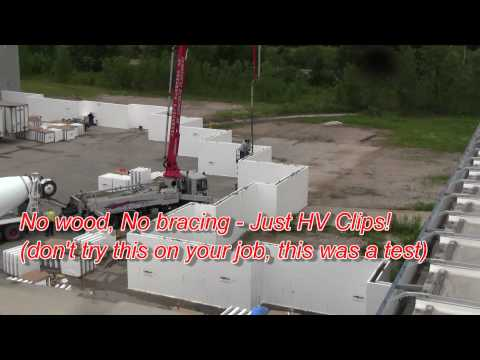 How strong is the Fox Blocks corner 2 of 3 insulated concrete forms icf.wmv