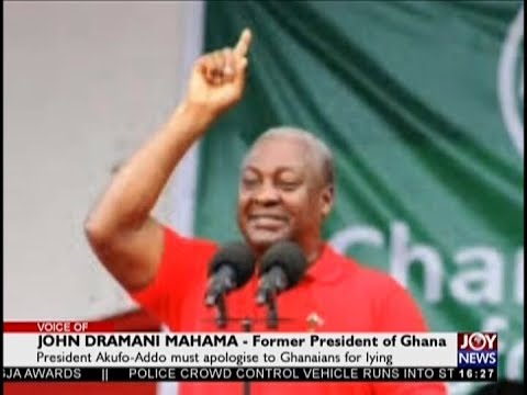 President Akufo-Addo must apologise to Ghanaians for lying – Fmr. Pres. Mahama (29-10-18)