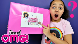 SURPRISE PRESENT! My PINK Magazine Column - Mega Competitions - Shopkins Num Noms Disney Toys