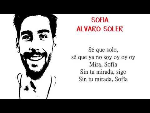 Alvaro Soler  Sofia Letra
