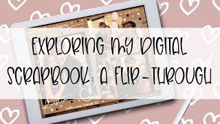 Exploring My Digital Scrapbook || NEW Digital Scrapbook Overview