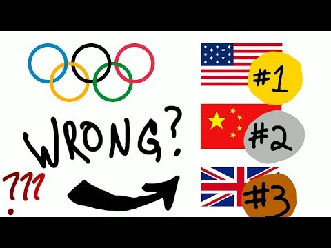 Guy explains which countries really win the Olympics with math!