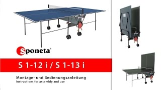 Sponeta S 1-12 i / S 1-13 i - Montageanleitung Tischtennistisch / Instructions for assembly and use
