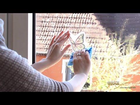 Klebeanleitung Fenstersticker - So bringst du deine Fenstersticker richtig an