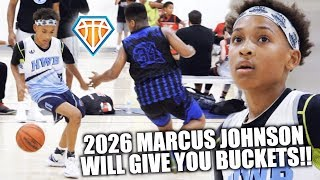 THIS 6TH GRADER WILL GIVE YOU BUCKETS!! | 2026 Marcus Johnson AVERAGES 30+ Out In Las Vegas