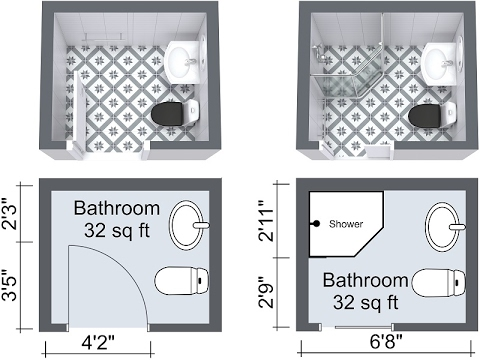 Small Bathroom Layout Shower and Bath Design Ideas