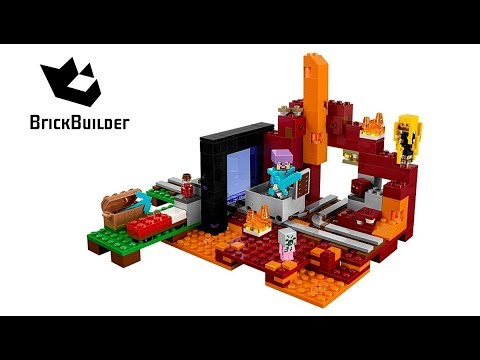 Vidéo LEGO Minecraft 21143 : Le portail du Nether