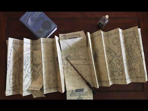 Harry Potter - Réplique Carte du Mauraudeur (Marauder's Map) - Noble Collection