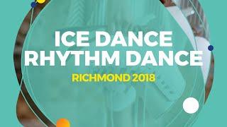 Konkina Ksenia / Vakhnov Alexander (RUS)   Ice Dance Rhythm Dance   Richmond 2018