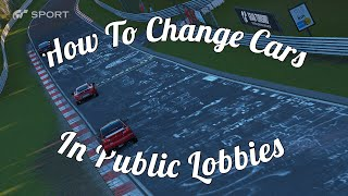 GT Sport Very Helpful Tip! Changing Cars In Online Lobby!