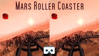 VR Roller Coaster on Mars: Virtual Reality 3D Video