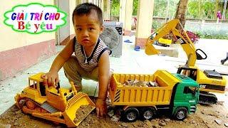 TRÒ CHƠI MÁY XÚC XE TẢI VIỆC LÀM CÓ ÍCH | Excavator, toy truck 🏠 Giải trí cho Bé yêu