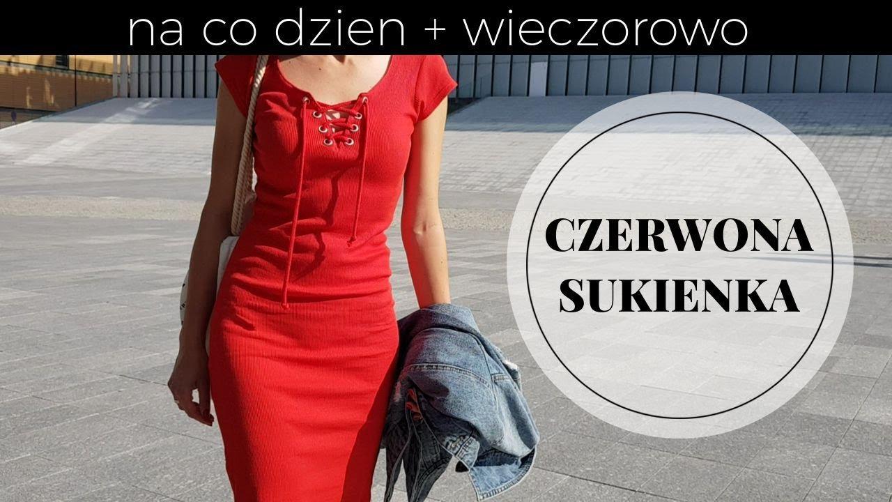 939763272f Czerwona Sukienka – Jak Ją Nosić Na Co Dzień  Stylizacja w Stylu Sportowym
