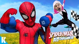 Spider-Man Fitness Challenge! Superhero Gear Test & Obstacle Course | KIDCITY