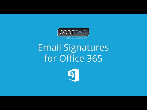 Easily manage email signatures in Office 365