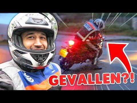 EERSTE KEER OP EEN MOTOR!!