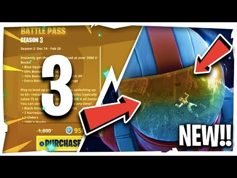 *NEW* SEASON 3 BATTLE PASS SKINS, CHALLENGES & MORE!! ( Fortnite Update News )