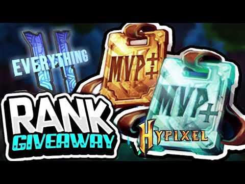 Hypixel | TWITTER RANK GIVEAWAY (VIP+, MVP, MVP+) - смотреть онлайн
