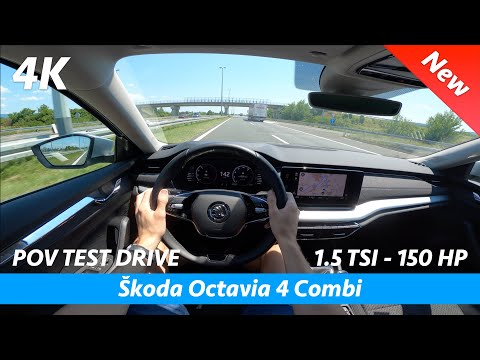Škoda Octavia 4 Combi - POV test drive & review in 4K | 1.5 TSI - 150 HP, Acceleration 0 - 100 km/h