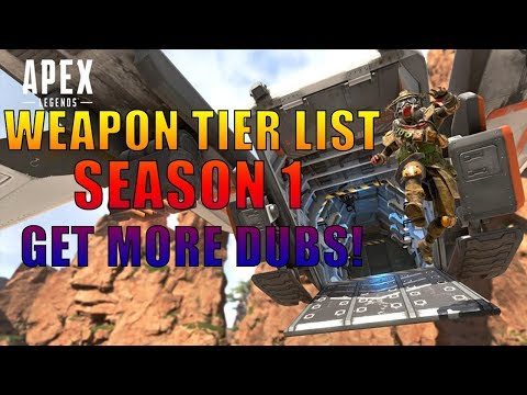 Apex Legends Season 1 Weapon Tier List...Best Guns in APEX!