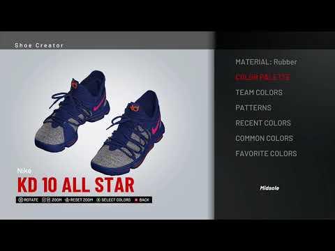 915a2116a1ce NBA 2K19 Shoe Creator - Nike KD 10 Custom