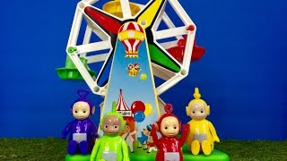 FISHER PRICE Musical Rainbow Ferris Wheel Ride with TELETUBBIES Toys Videos for TODDLERS!