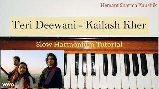 Teri Deewani Kailash Kher Harmonium Notes (Tutorial Notations)