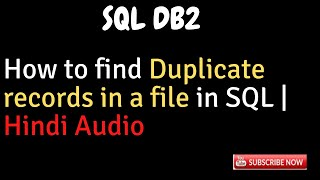 How to find duplicate records in a file in SQL DB2 SQL Tips Admin