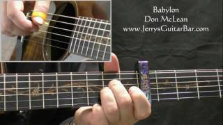 How To Play Don McLean Babylon (intro only)