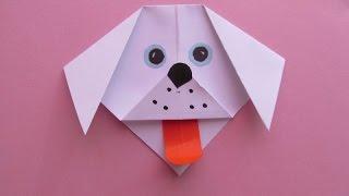 Смотреть онлайн Сделать оригами собачку просто своими руками