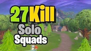 27 Kill Solo Vs. Squads On Controller (Season X Fortnite)