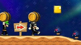 8Forrest's Super Mario Bros. Wii (Mr. M & Mr. L) - World 2 - 2 Player Co-Op Walkthrough