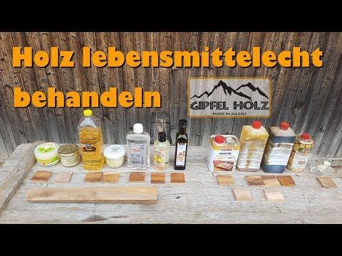 Holz lebensmittelecht behandeln    Ölen, wachsen und versiegeln von Schneidbretter