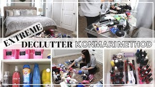 EXTREME CLEAN, ORGANIZE, & DECLUTTER | KONMARI METHOD | CLEAN WITH ME 2019