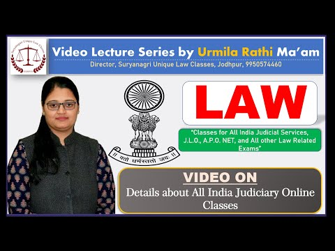 Details About All India Judiciary Online Classes