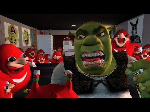 Shrek will show you da wae to hell - Shrek VS Ugandan Knuckles