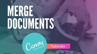 Canva: How to Merge 2 Documents