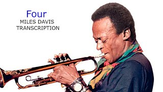 Four/Miles Davis. Miles Davis' (Bb) Transcription. Transcribed by Carles Margarit.