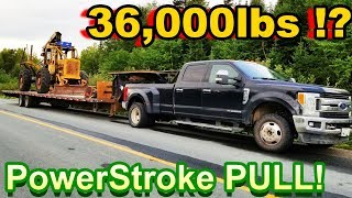FORD PowerStroke!!! PULLS 36,000lbs!?!? WE BROKE THE TRAILER (Skidder Pull #2)