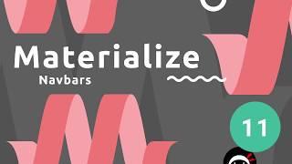 Materialize Tutorial #11 - Navbars (desktop & mobile)