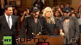 USA: Motorhead's Lemmy Kilmister dies, aged 70 *ARCHIVE*