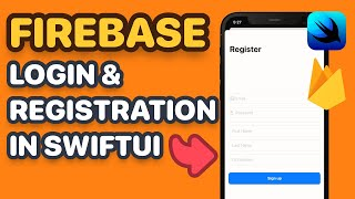 Firebase SwiftUI Login, Registration, Password Reset & Session Management with Combine