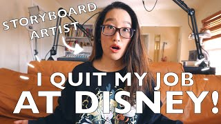 WHY I QUIT MY JOB AT DISNEY (Storyboard Artist)