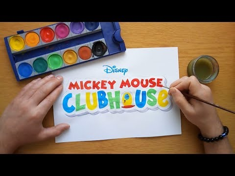 How to draw the Mickey Mouse Clubhouse logo (Disney)