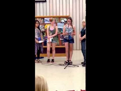 Video of a camper summarizing something she learned about girls leadership while at camp.