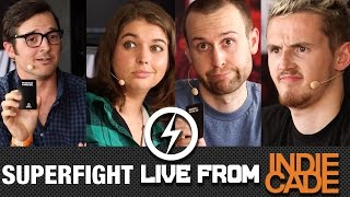 Gambar cover SUPERFIGHT! - TheSyndicateProject v. Seananners v. Cinefix v. Katie Elsaesser